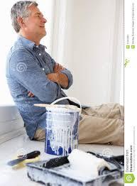 man redecorating