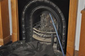 chimney sweep removing nest 2